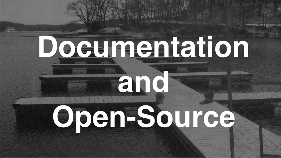 Documentation and Open Source